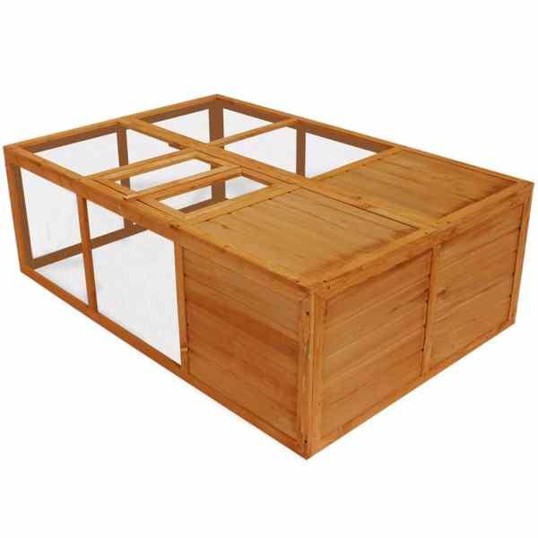 Cușcă animale de exterior pliabilă, lemn