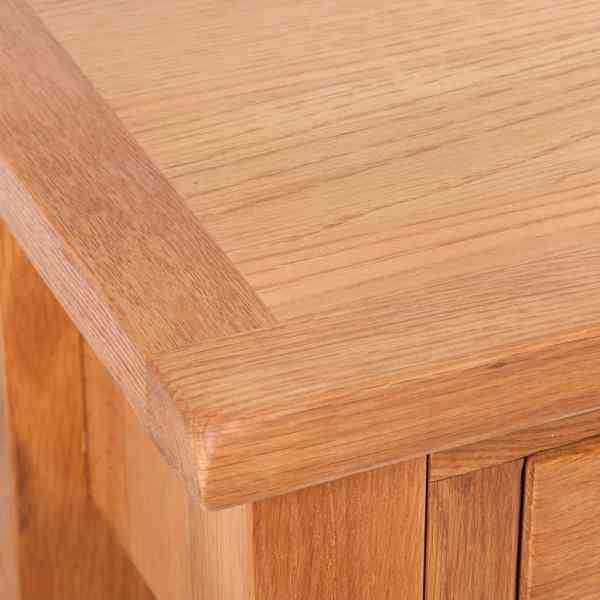 vidaXL Masă consolă cu 2 sertare, 83x30x73 cm, lemn masiv de stejar