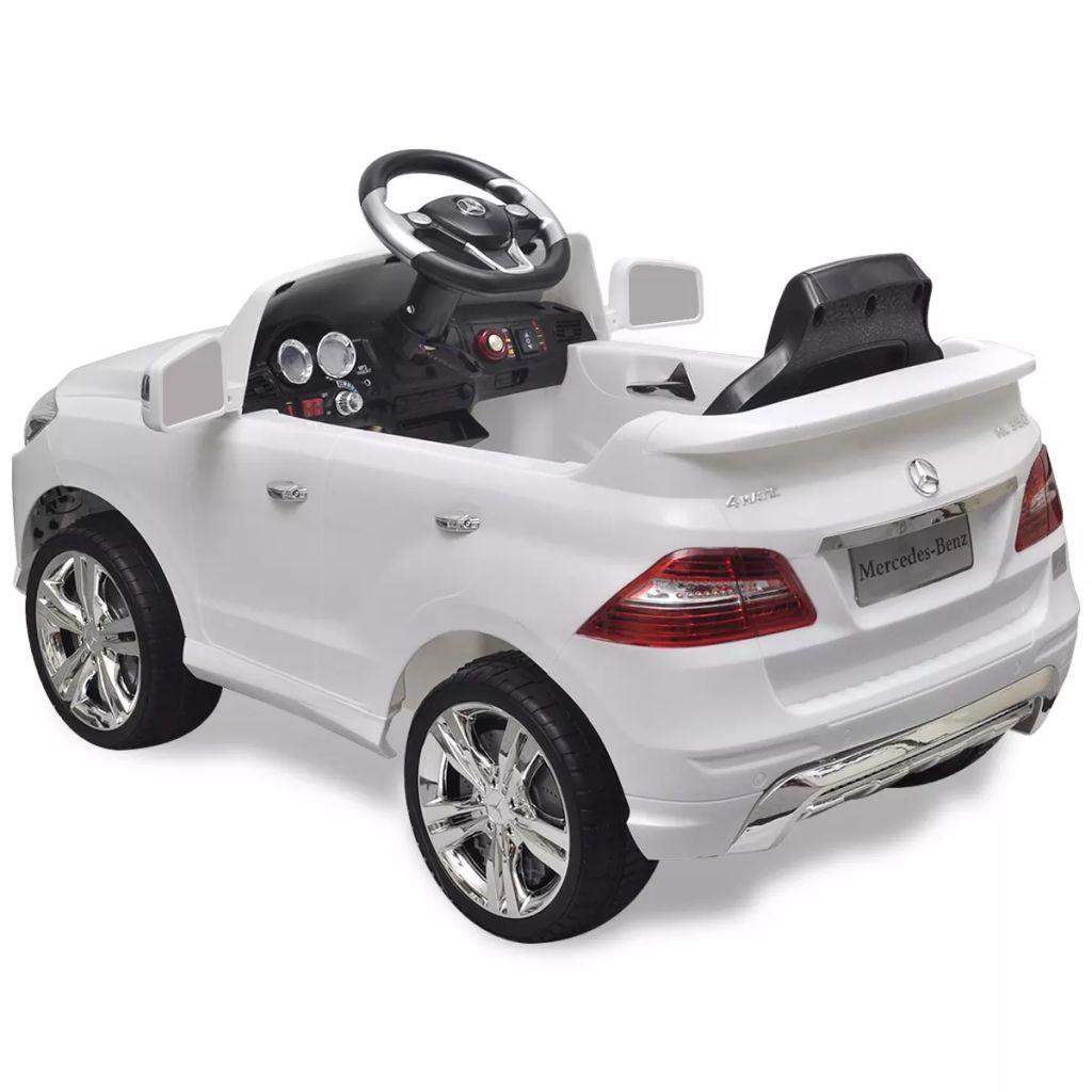 Mașină electrică Mercedes Benz ML350, cu telecomandă, 6V, alb
