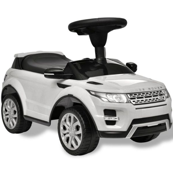 Mașină pentru copii Land Rover 348, de condus, cu muzică, alb