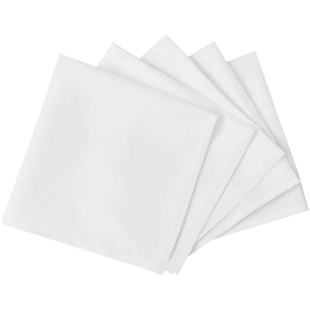 vidaXL Șervețele de masă 50 x 50 cm, alb, 25 buc.