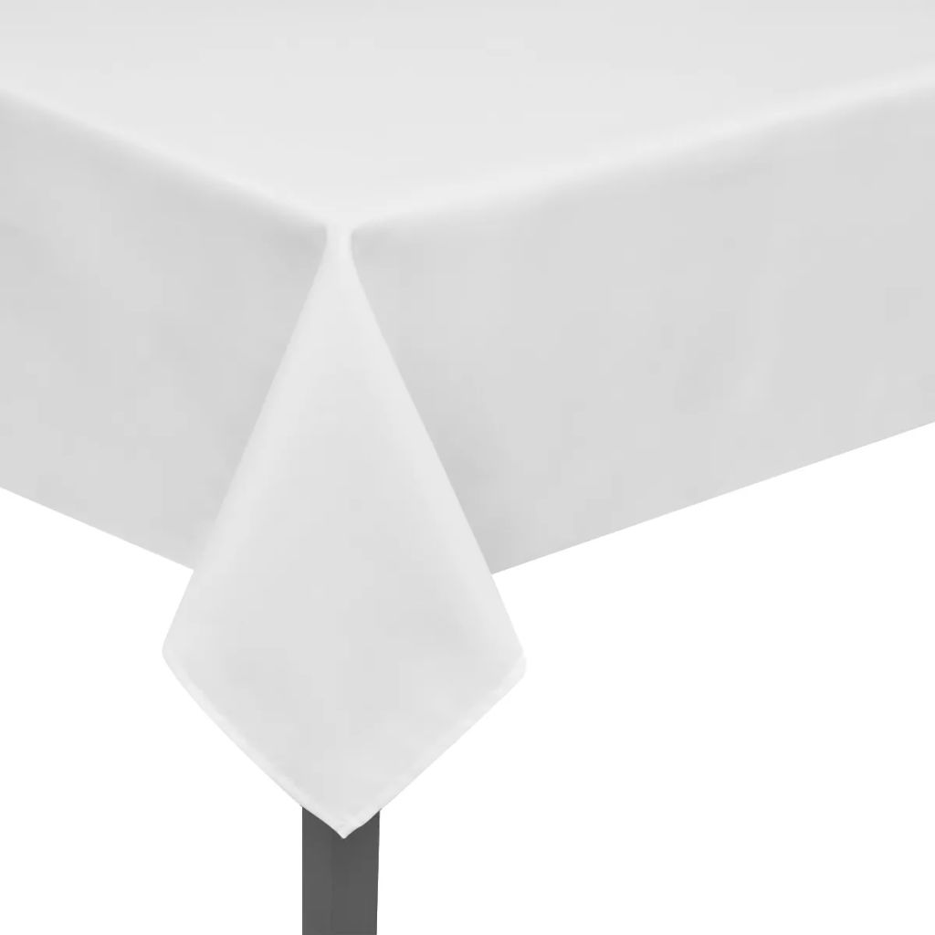 Fețe de masă, 100 x 100 cm, alb, 5 buc.
