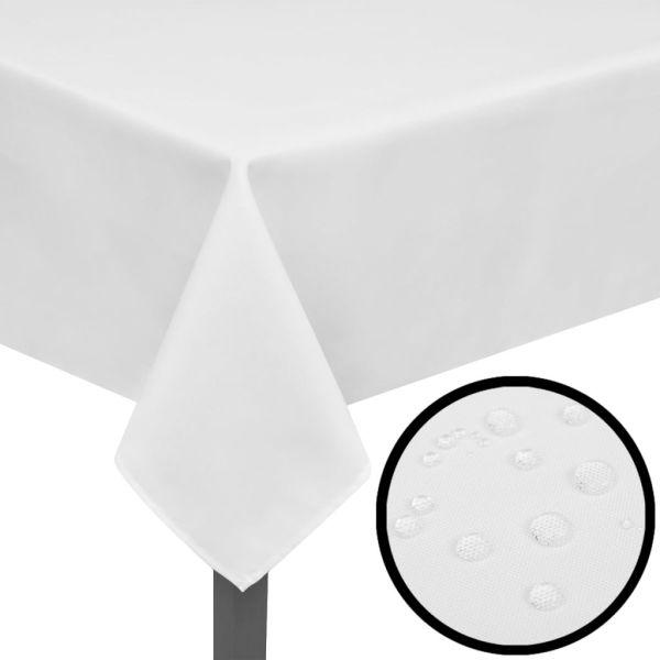 Fețe de masă, 170 x 130 cm, alb, 5 buc.