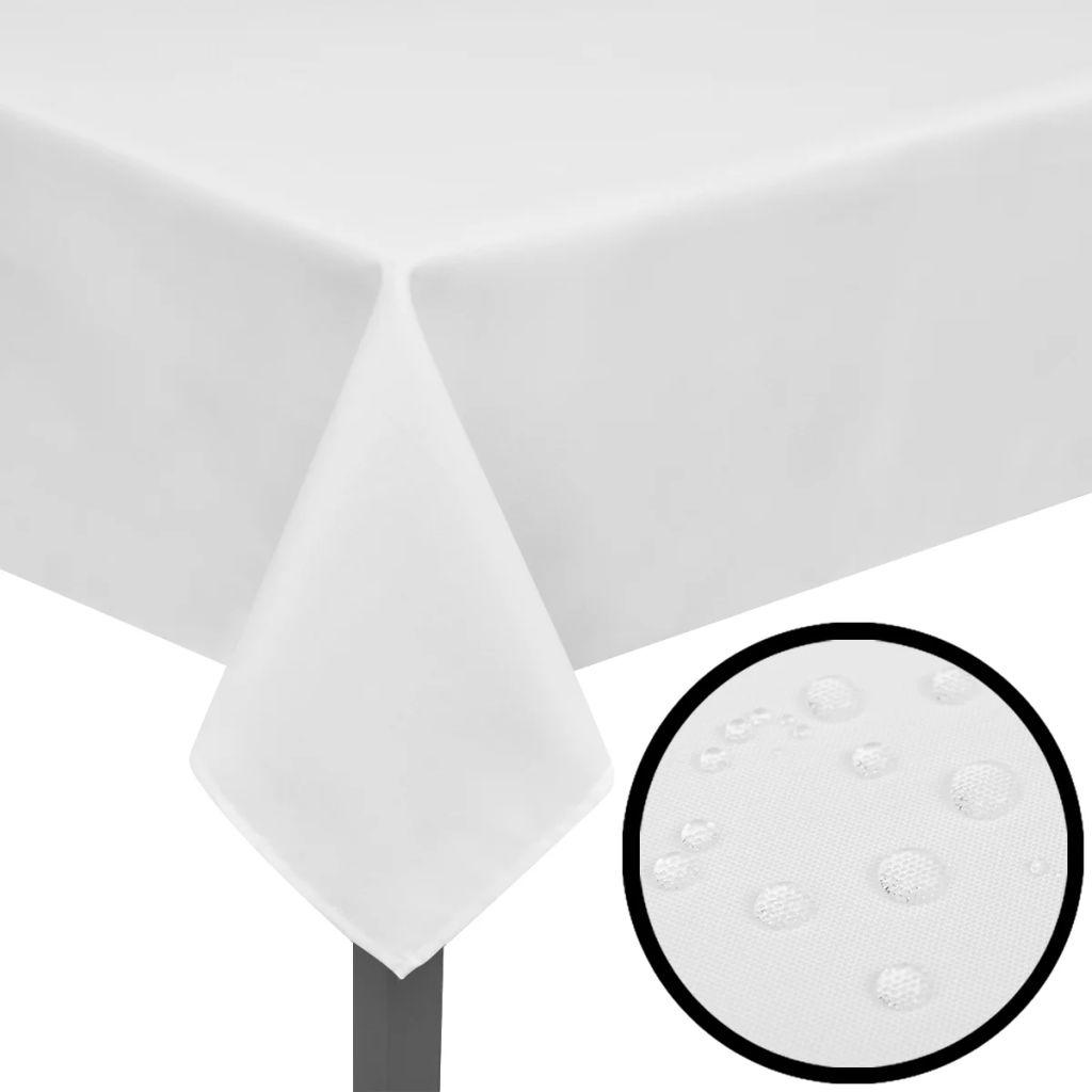 Fețe de masă, 190 x 130 cm, alb, 5 buc.