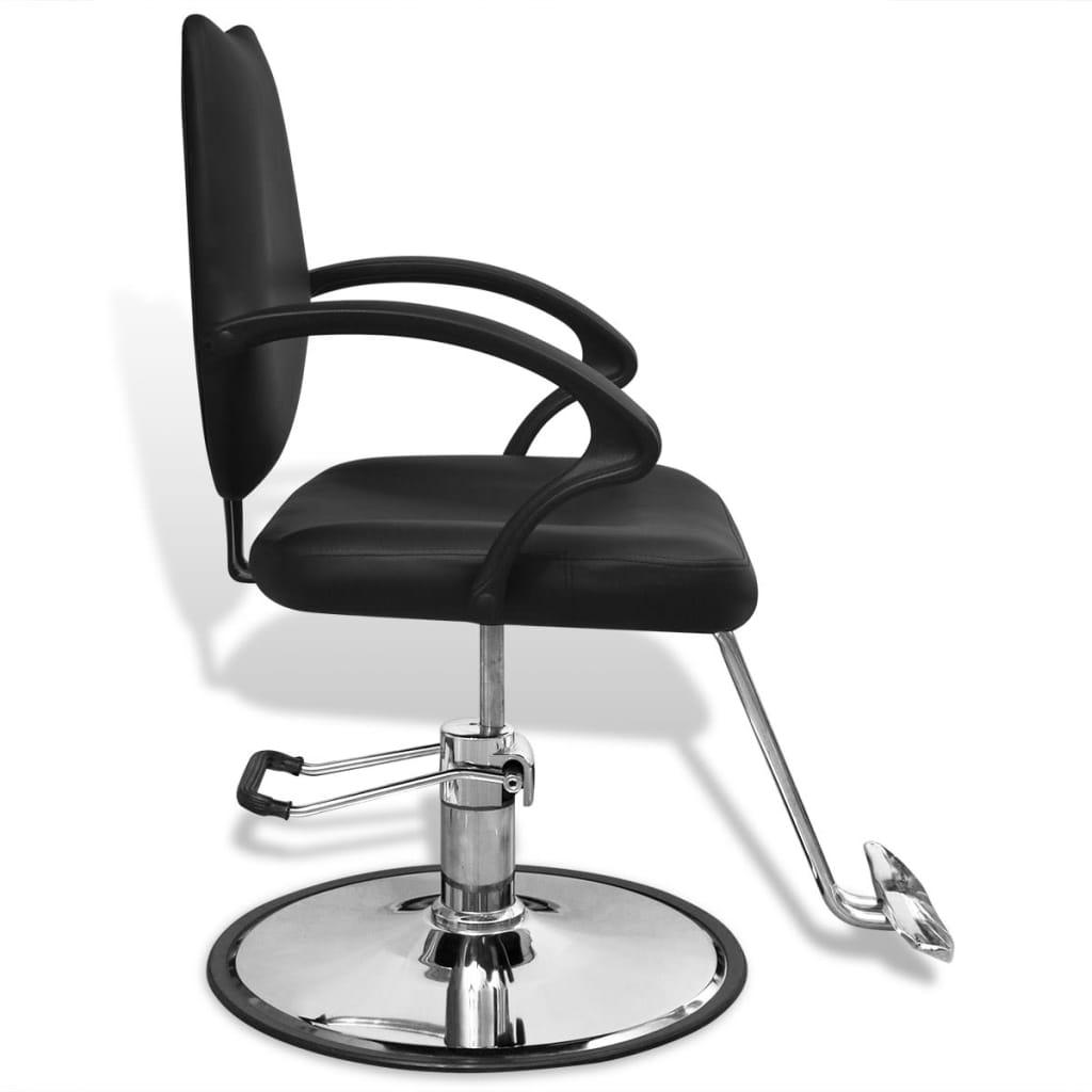 Scaun profesional de frizer, cu piele artificială, negru