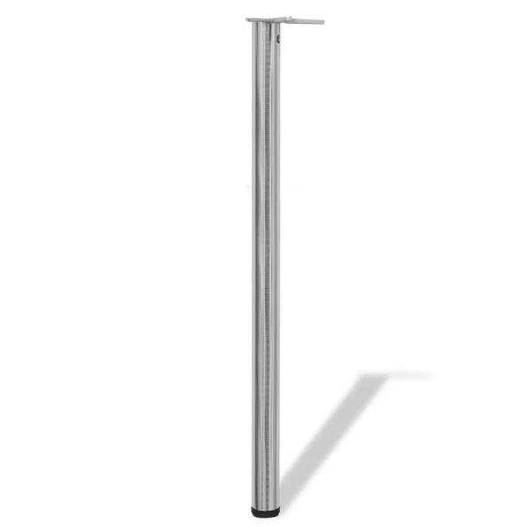 Picioare masă înălțime reglabilă, nichel șlefuit, 1100 mm, 4 buc.
