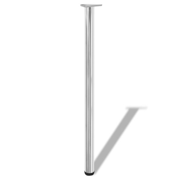 Picioare de masă reglabile pe înălțime, crom, 1100 mm