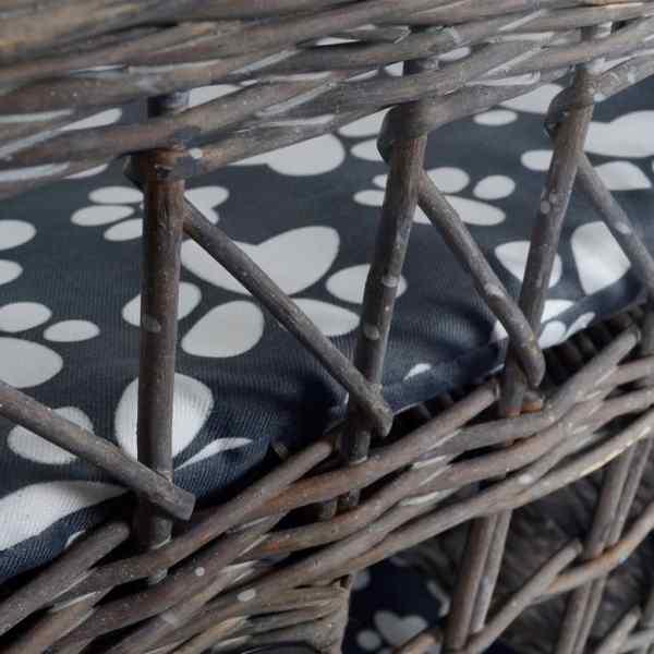 Ansamblu salcie pătrat casă pisici/Pat/Stâlp pentru gheare cu pernă