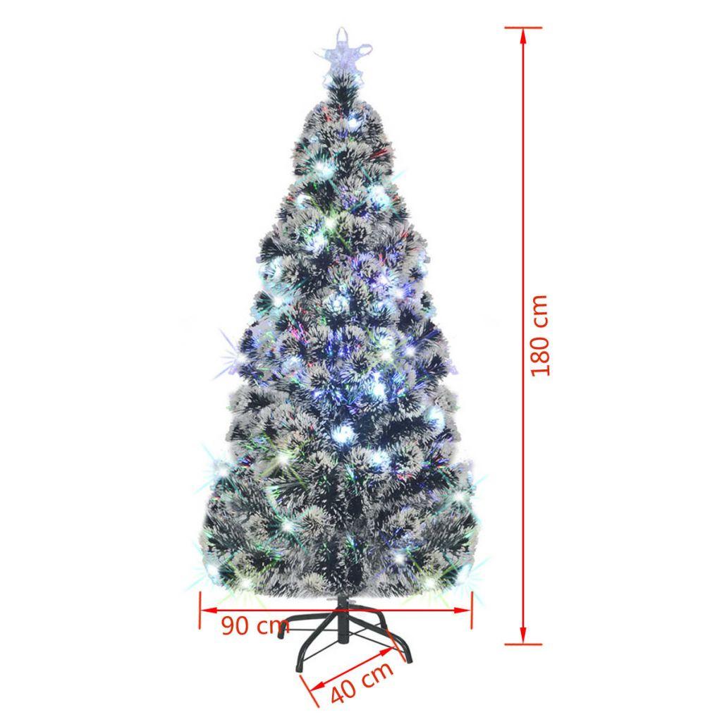 Brad de Crăciun artificial cu suport / LED, 180 cm, 220 ramuri