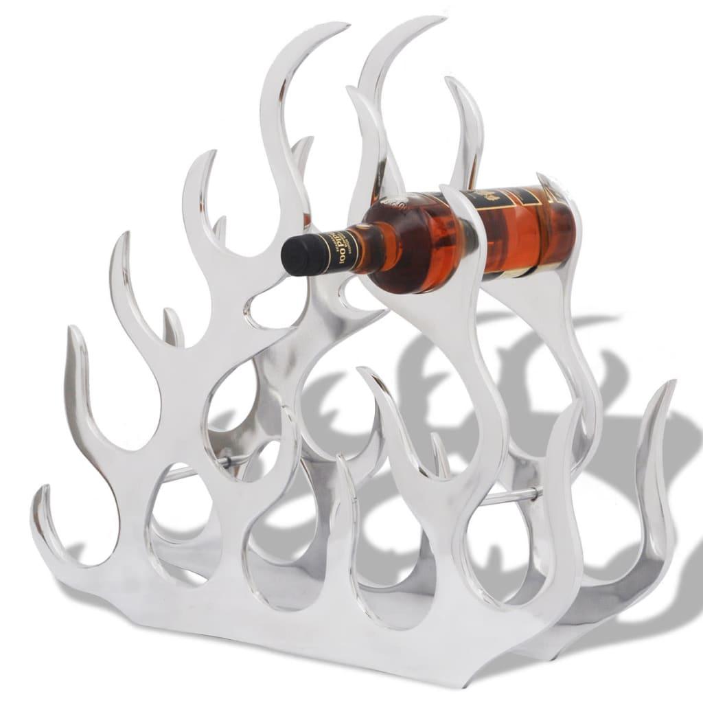 vidaXL Suport sticle de vin pentru 11 sticle, argintiu, aluminiu
