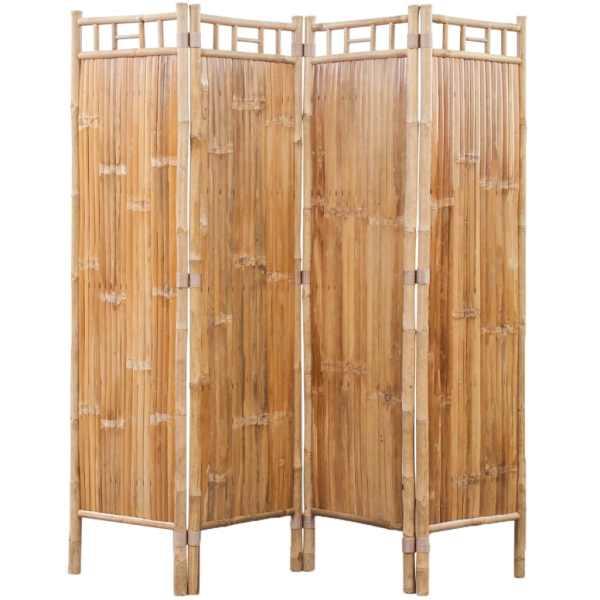 Paravan din bambus cu 4 panouri