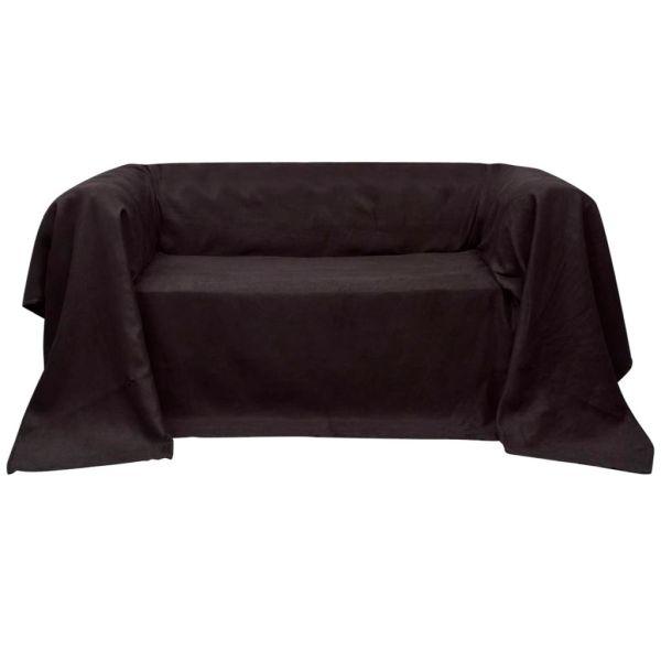 Husă din velur microfibră pentru canapea 270 x 350 cm, Maro