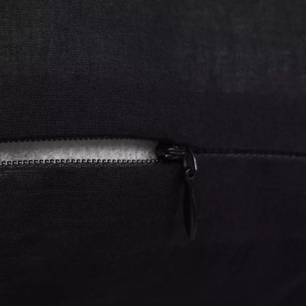 Huse de pernă din bumbac, 50 x 50 cm, negru, 4 buc.