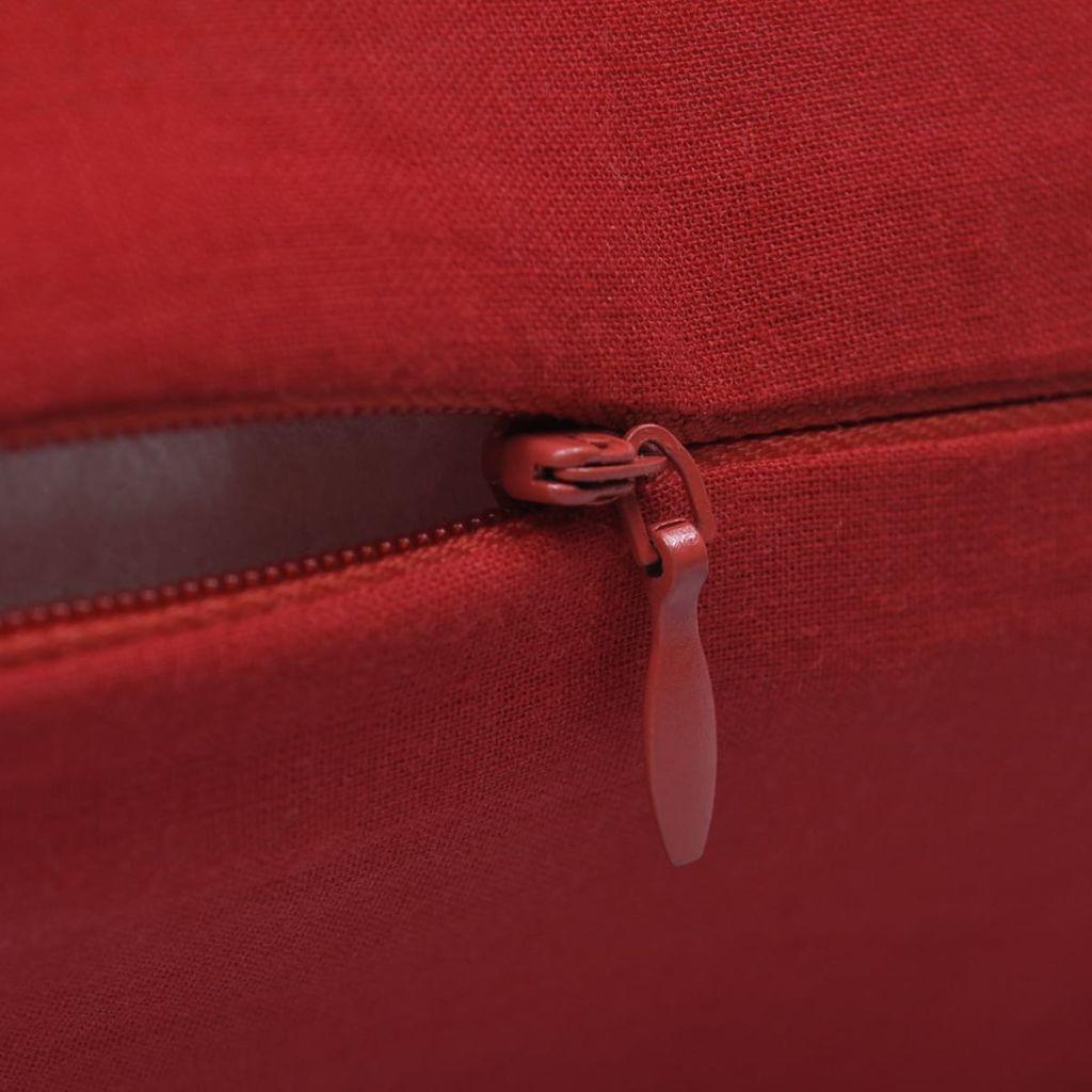 Huse de pernă din bumbac, 40 x 40 cm, roșu, 4 buc.