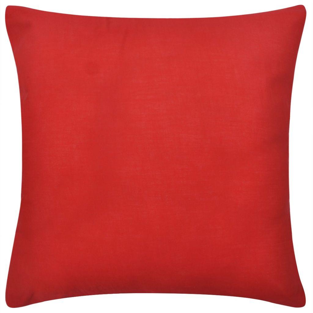 Huse de pernă din bumbac, 80 x 80 cm, roșu, 4 buc.