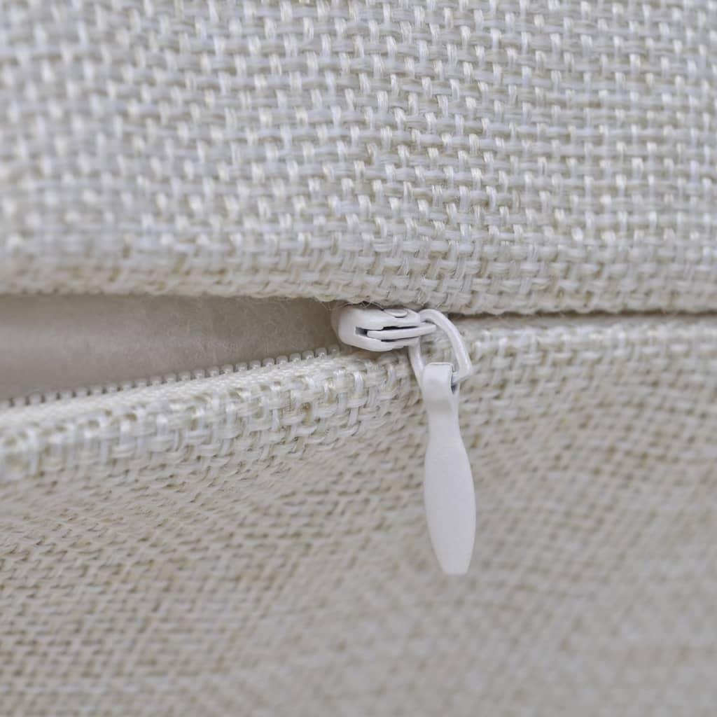 Huse de pernă cu aspect de pânză, 40 x 40 cm, bej, 4 buc.