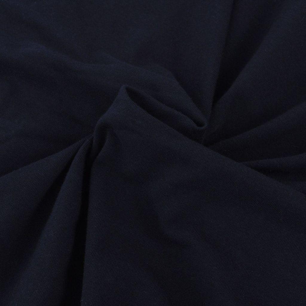 Husă elastică pentru canapea, bumbac jersey, negru