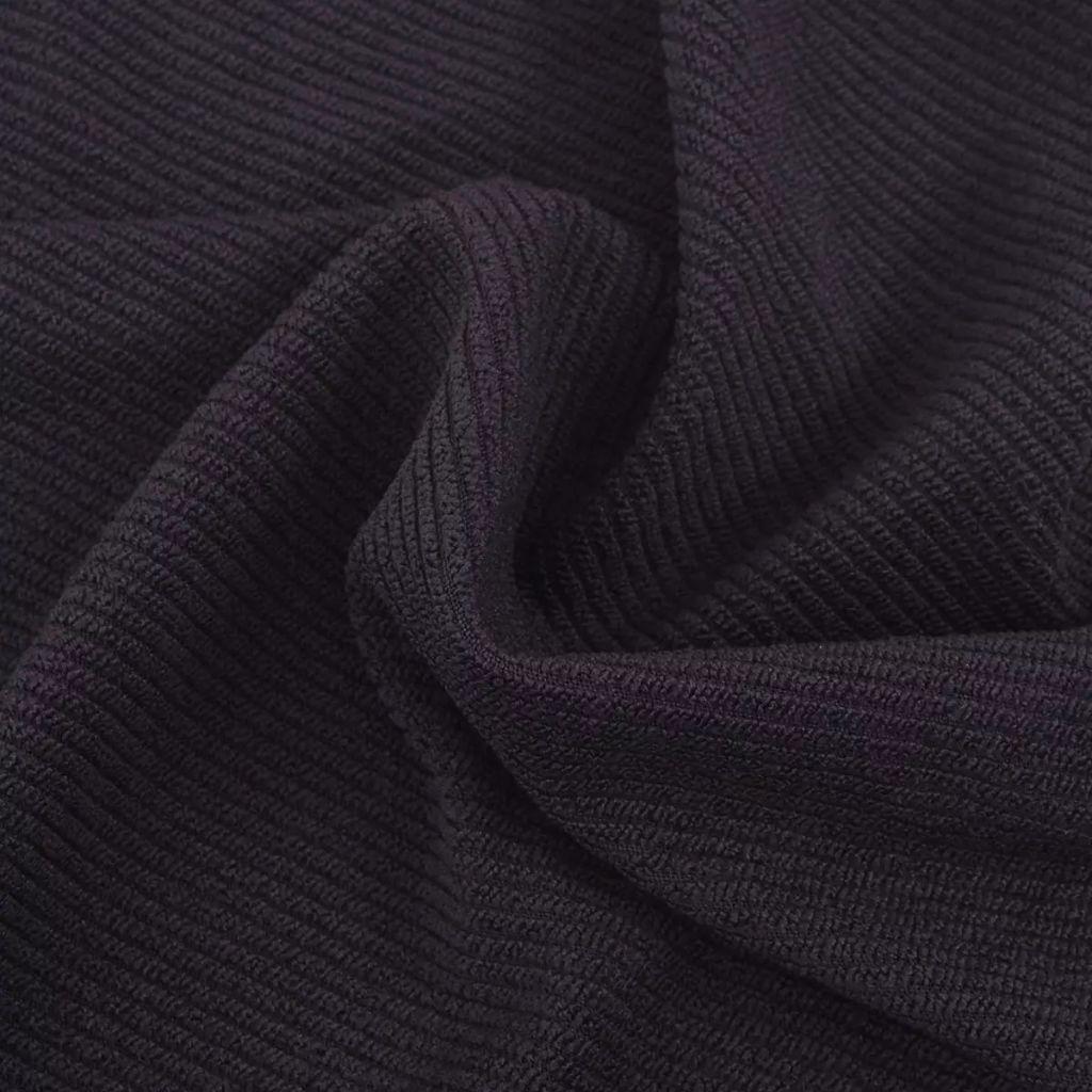 Husă elastică pentru canapea, poliester textură striată, maro