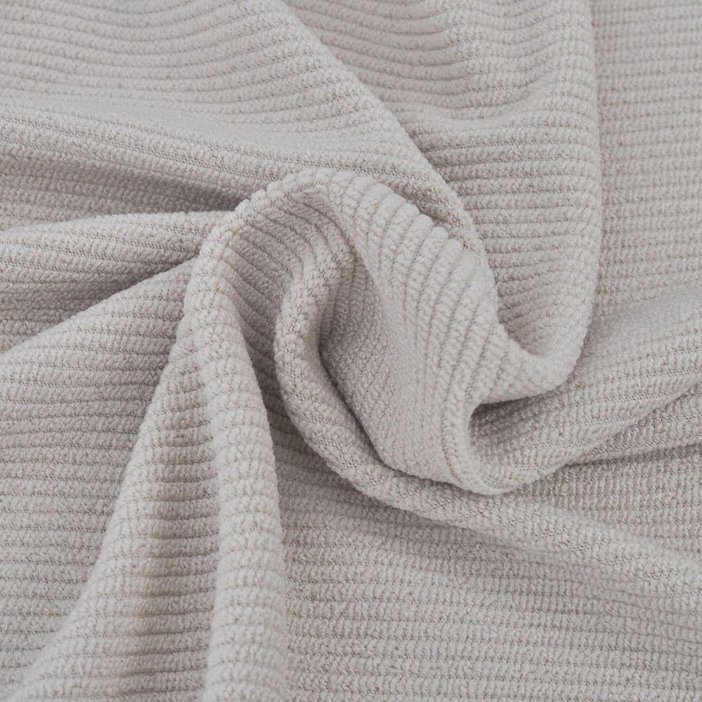Husă elastică pentru canapea din poliester cu striații, bej