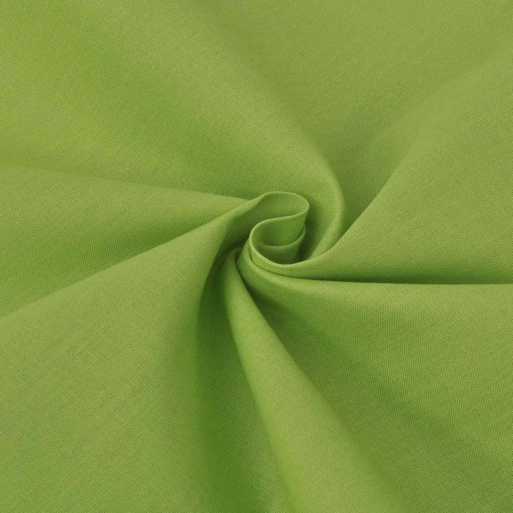 vidaXL Țesătură din bumbac 1,45 x 20 m, verde