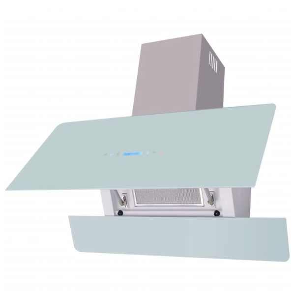 vidaXL Hotă cu afișaj tactil 900 mm, Albă