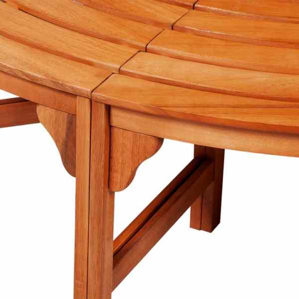 vidaXL Bancă de copac, Ø 160 cm, lemn