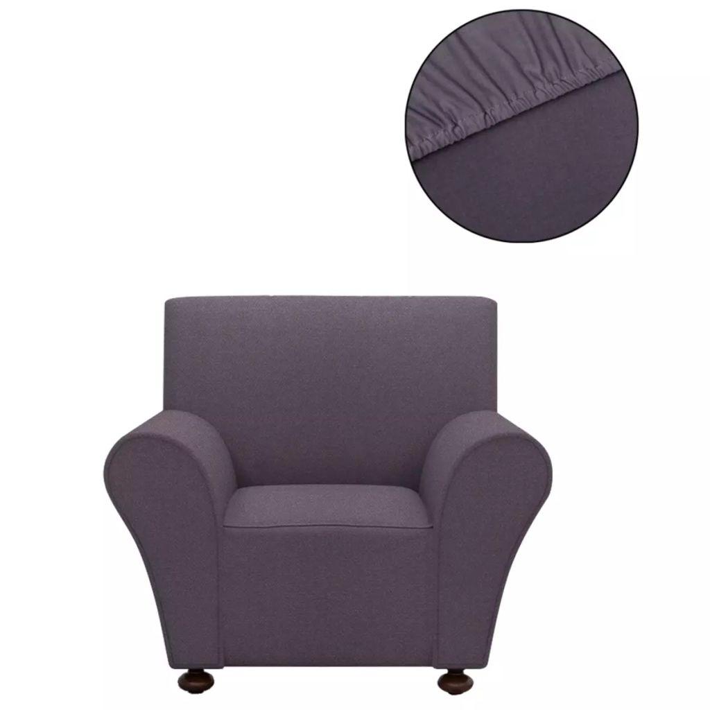 vidaXL Husă elastică pentru canapea din poliester jerseu, antracit