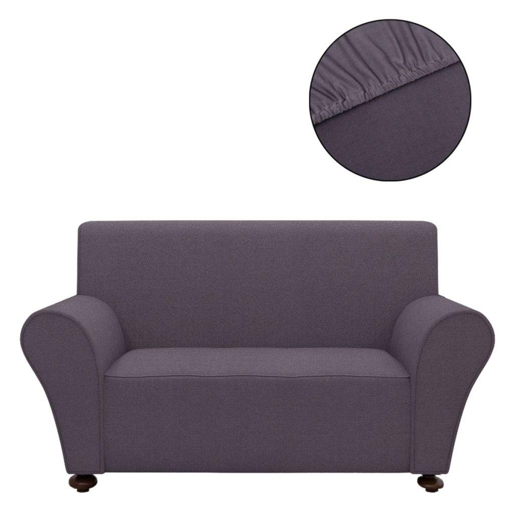 Husă elastică canapea din poliester jerse, antracit