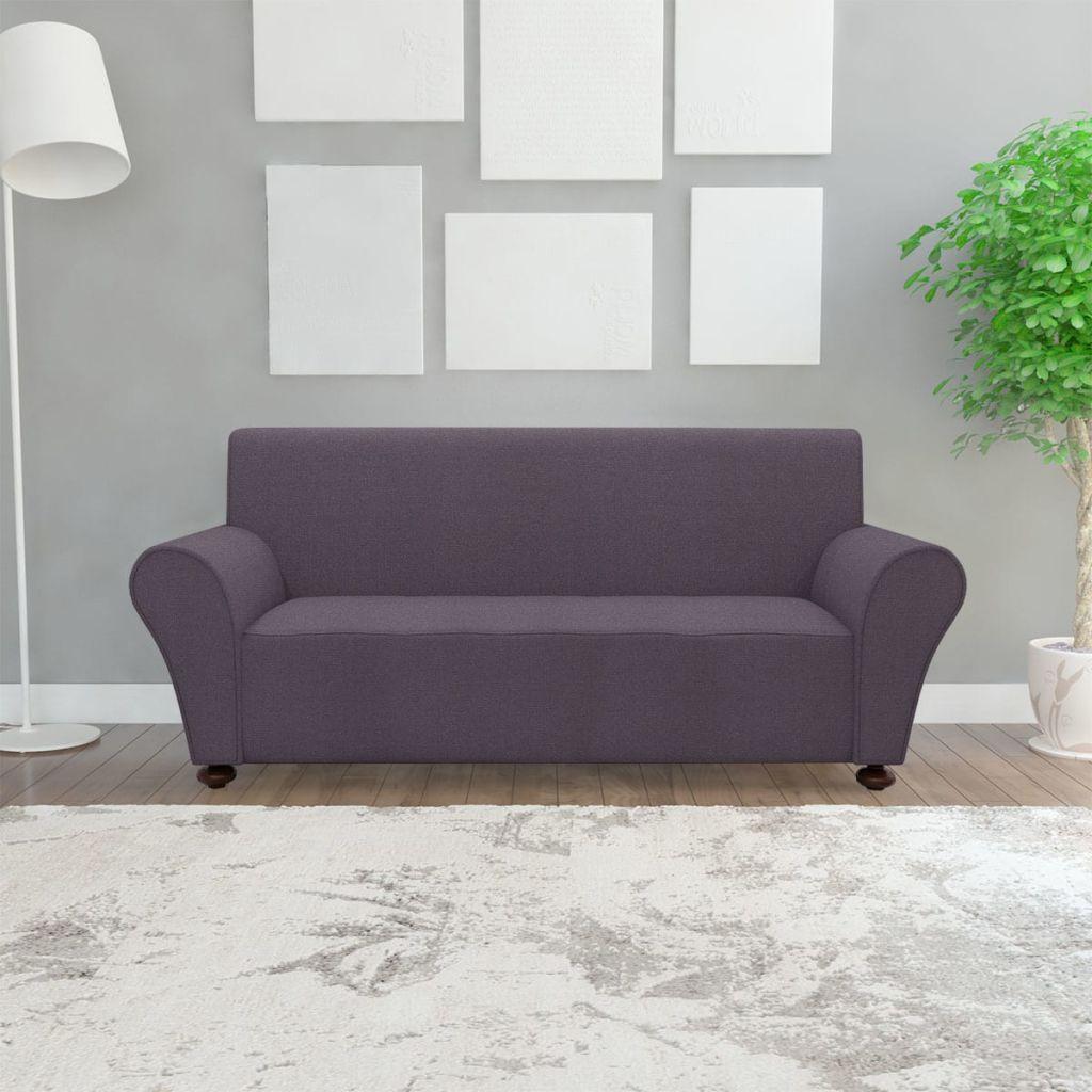 vidaXL Husă elastică pentru canapea poliester jersey antracit