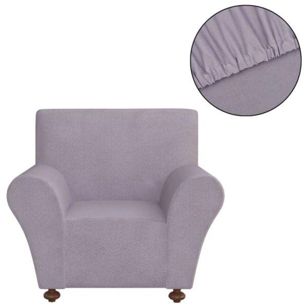 vidaXL Husă elastică pentru canapea poliester jerseu, gri