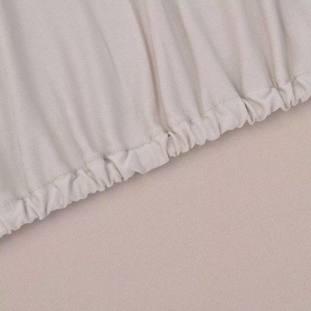 Husă elastică pentru canapea, poliester jersey, bej