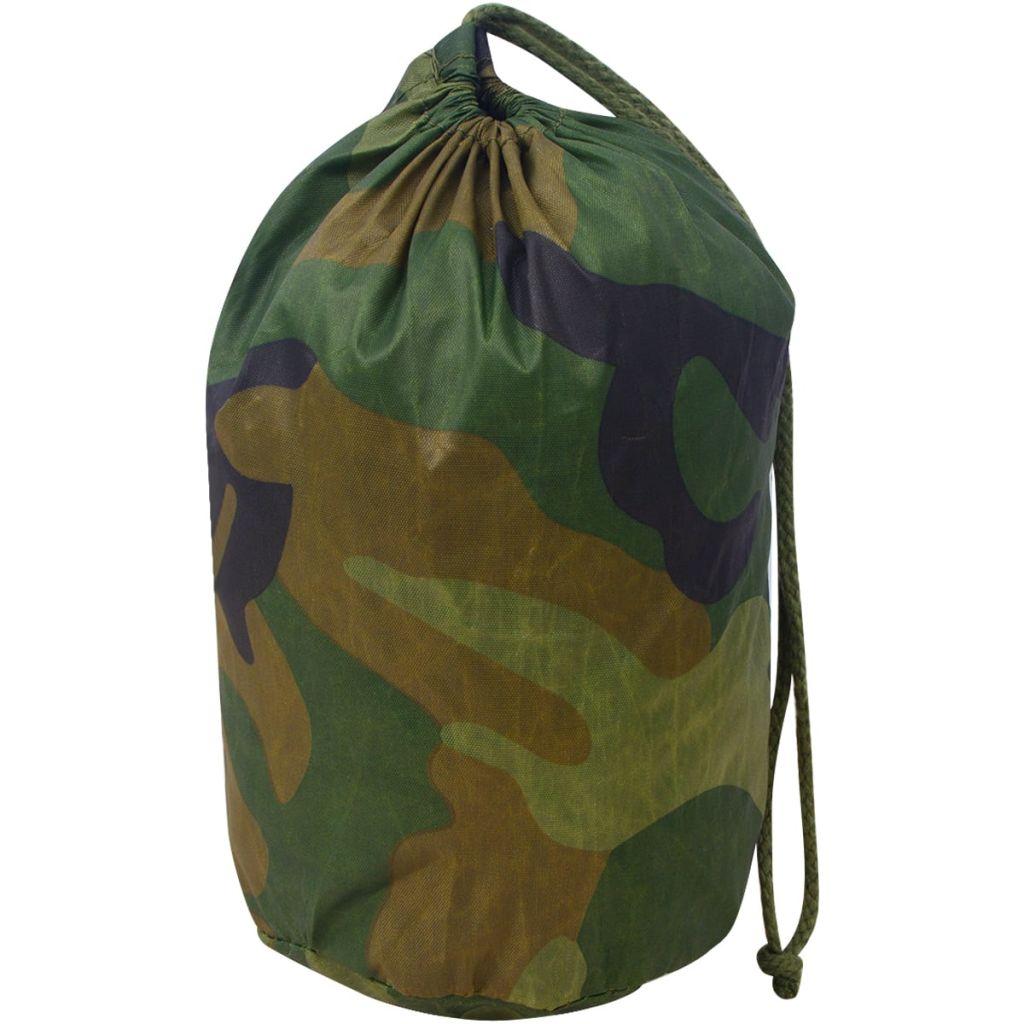 vidaXL Plasă de camuflaj cu geantă de depozitare 3×3 m