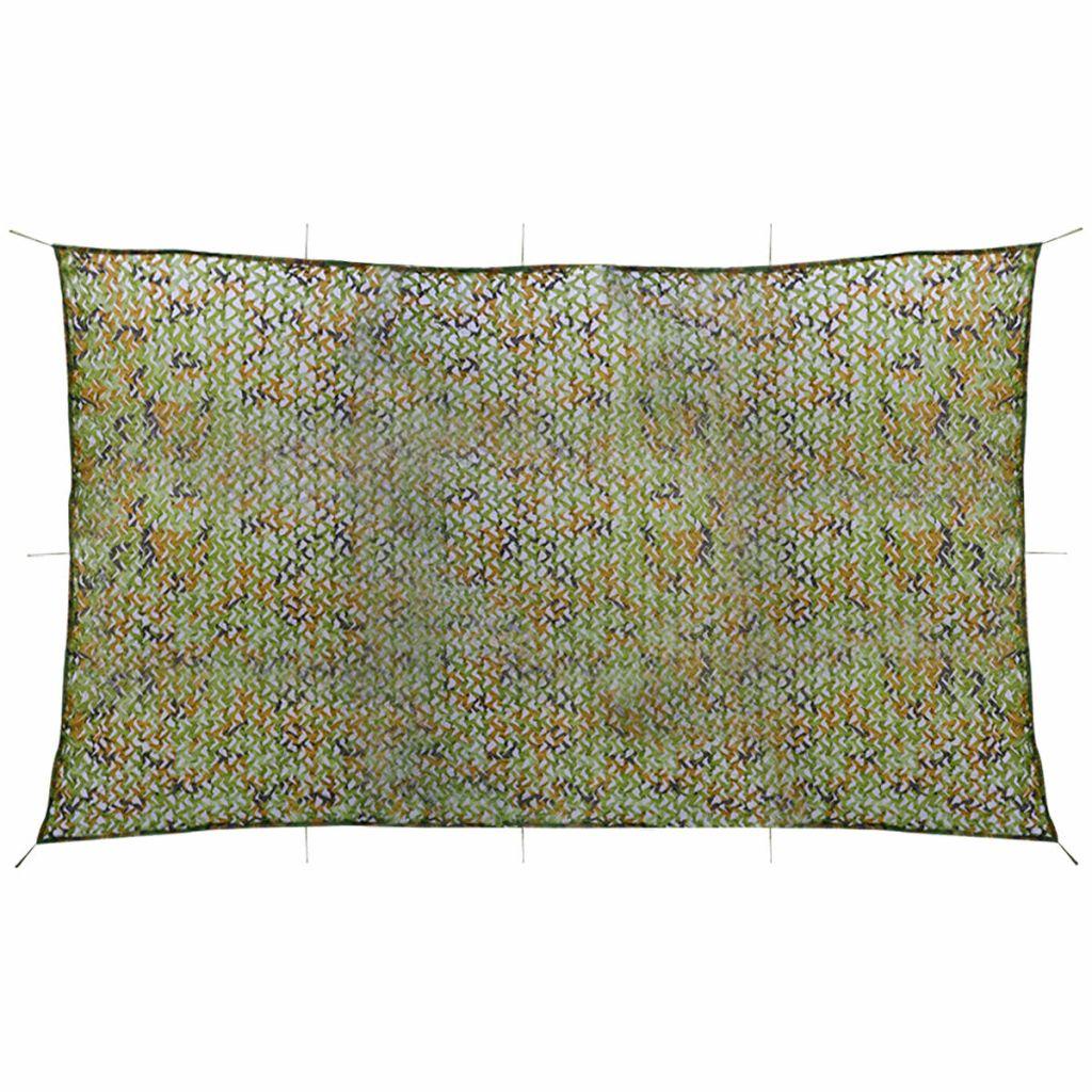 vidaXL Plasă de camuflaj cu geantă de depozitare 3×5 m