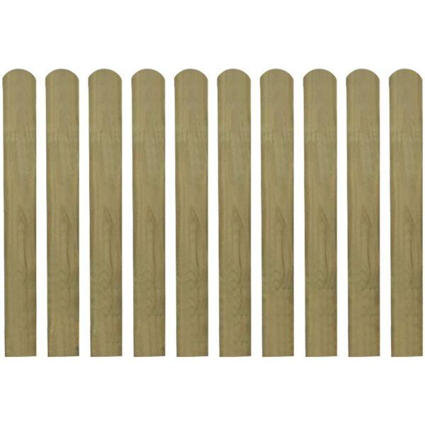 vidaXL Șipci de gard tratate, 10 buc., 80 cm, lemn