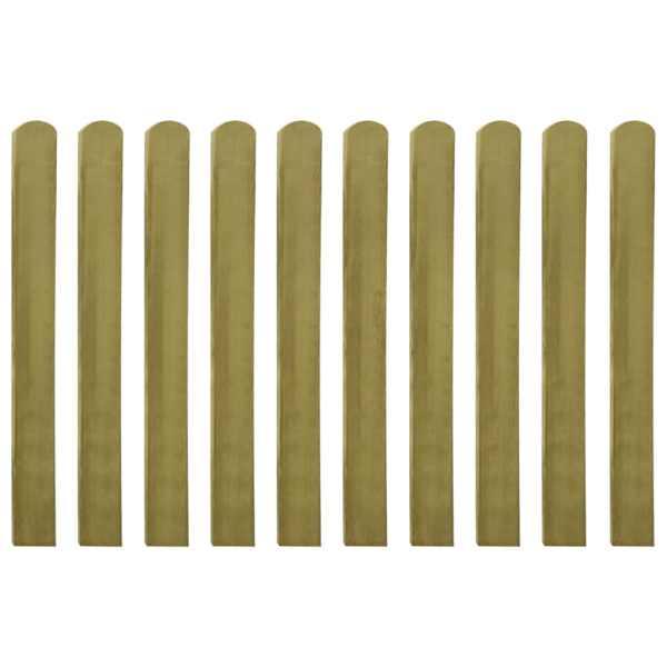 Șipci de gard tratate, 10 buc., 100 cm, lemn