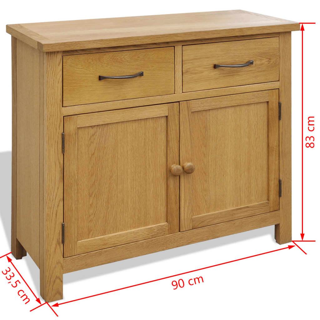 Servantă, 90 x 33,5 x 83 cm, lemn masiv de stejar