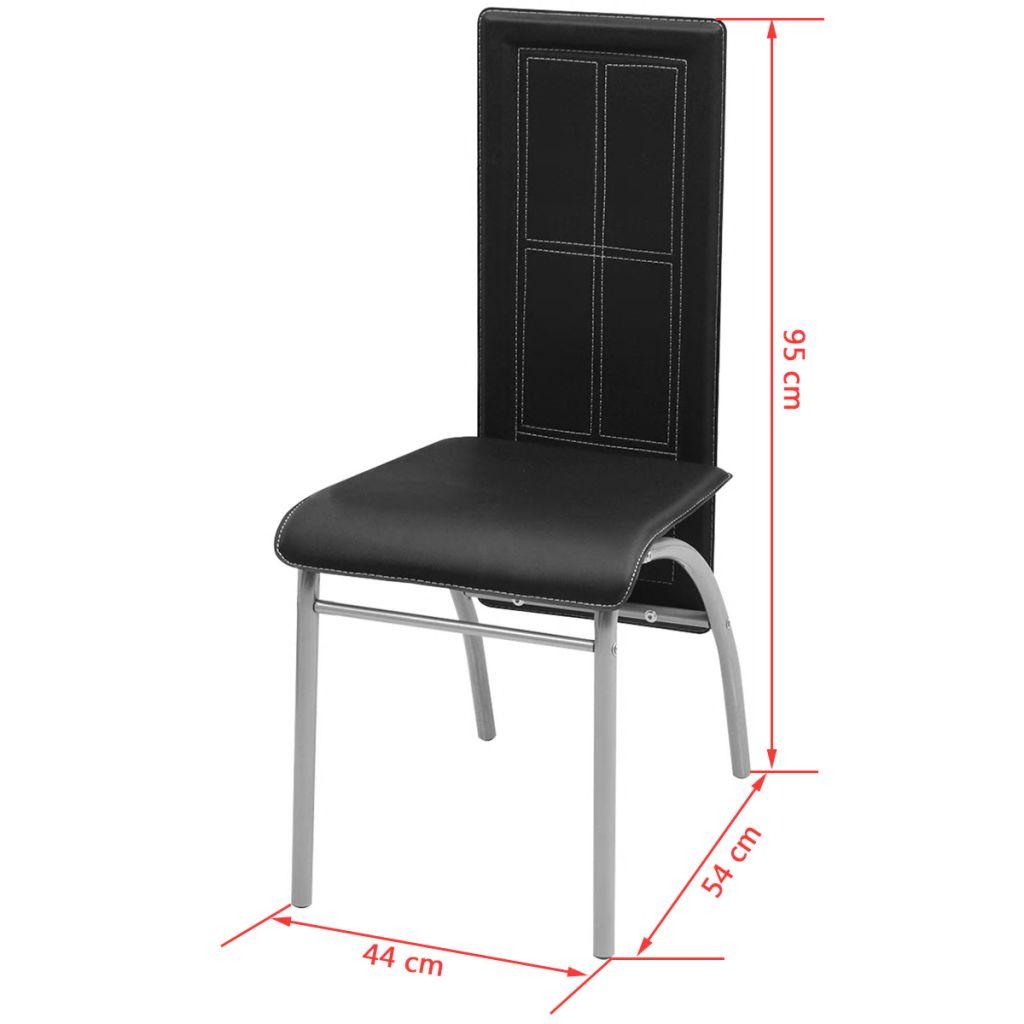 Set masă și scaune din lemn de pin cinci piese Negru