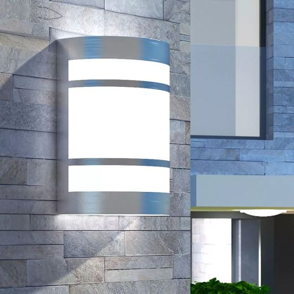vidaXL Corp de iluminat exterior de perete, oțel inoxidabil