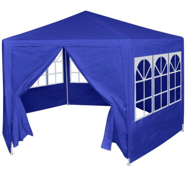 42347 vidaXL Marquee with 6 Side Walls Blue 2×2 m