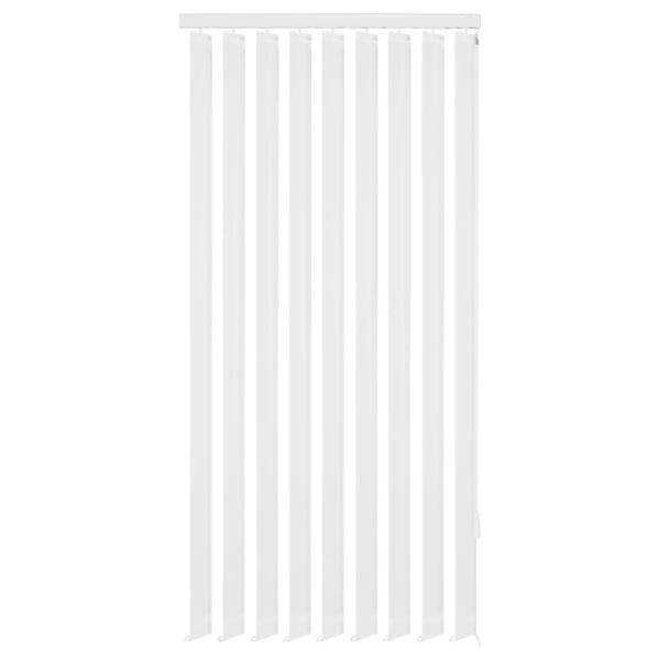 vidaXL Jaluzele verticale din material textil, 150 x 250 cm, alb