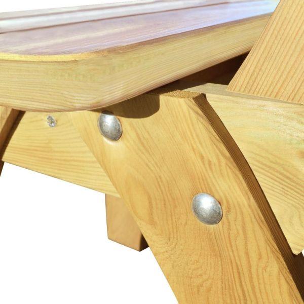 Scaun de grădină din lemn de pin tratat