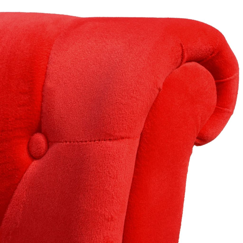 vidaXL Fotoliu cu spătar înalt, roșu, material textil