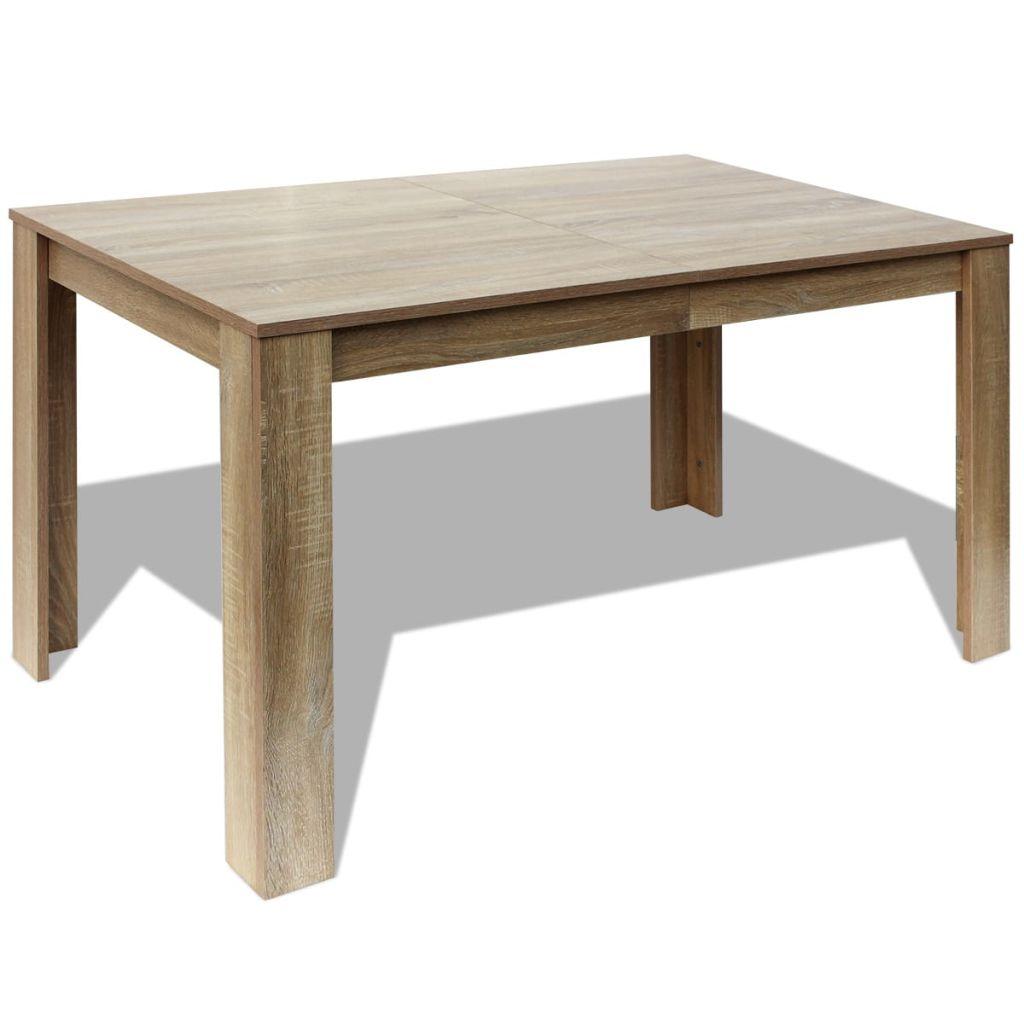Masă de bucătărie, 140 x 80 x 75 cm, lemn de stejar