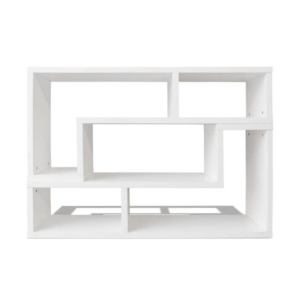 Comodă TV în formă dublă de L, alb