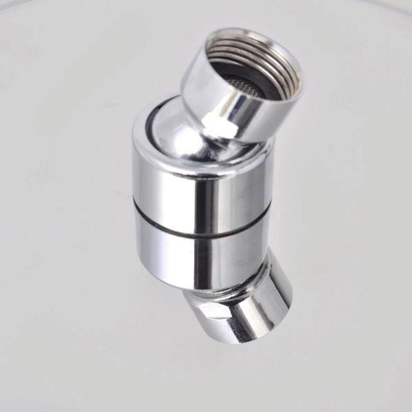 vidaXL Cap de duș rotund tip ploaie, oțel inoxidabil, 20 cm
