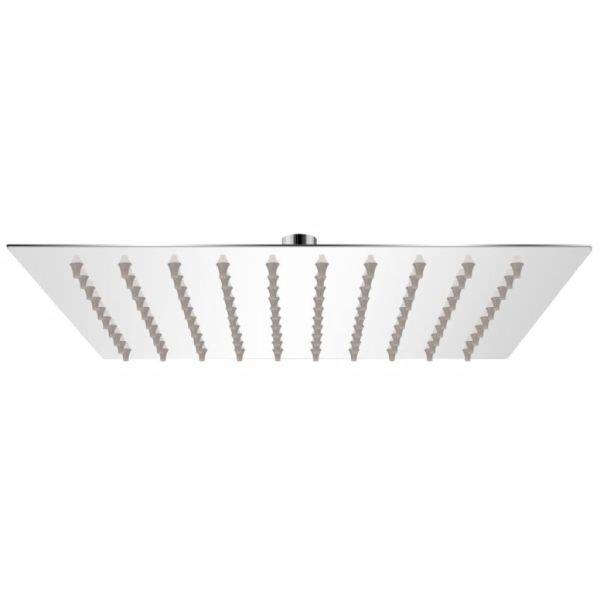 vidaXL Cap de duș pătrat tip ploaie, oțel inoxidabil, 20×20 cm