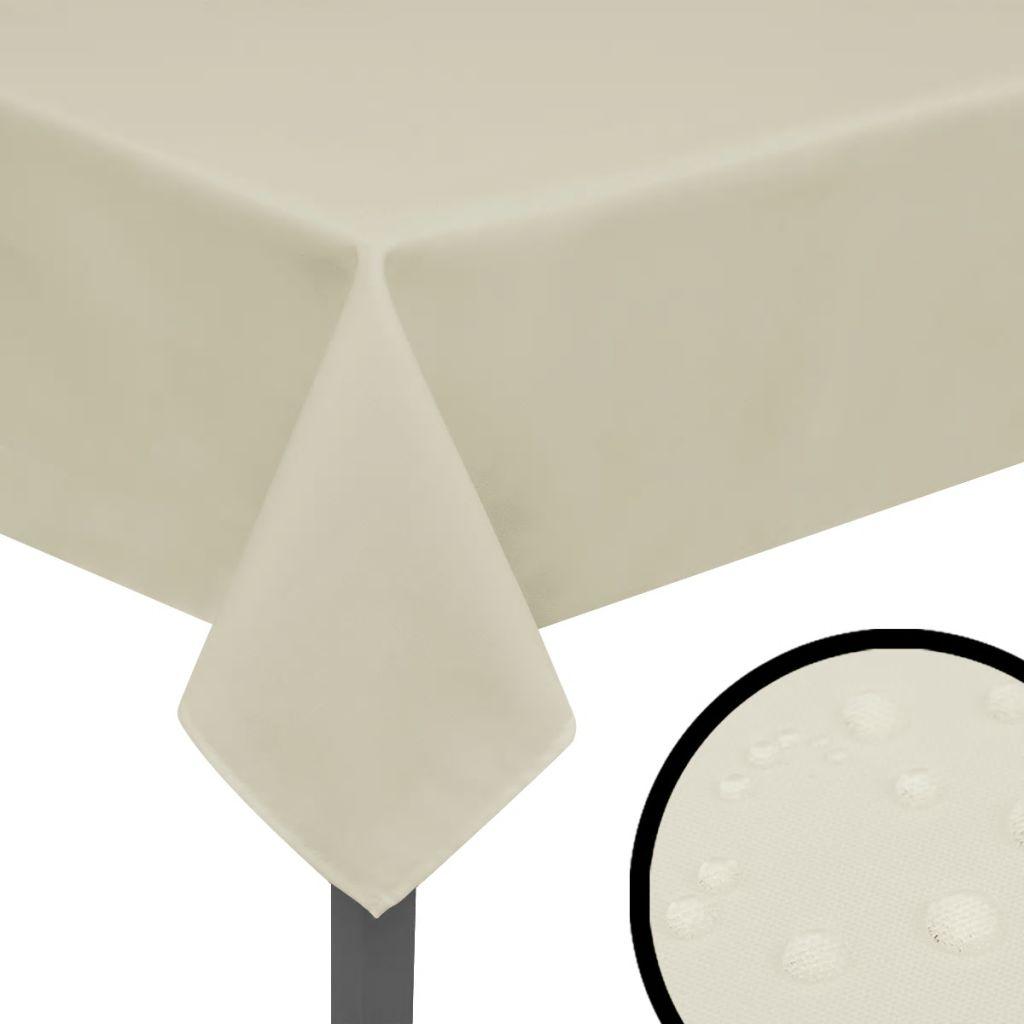 vidaXL Fețe de masă, 170 x 130 cm, crem, 5 buc.