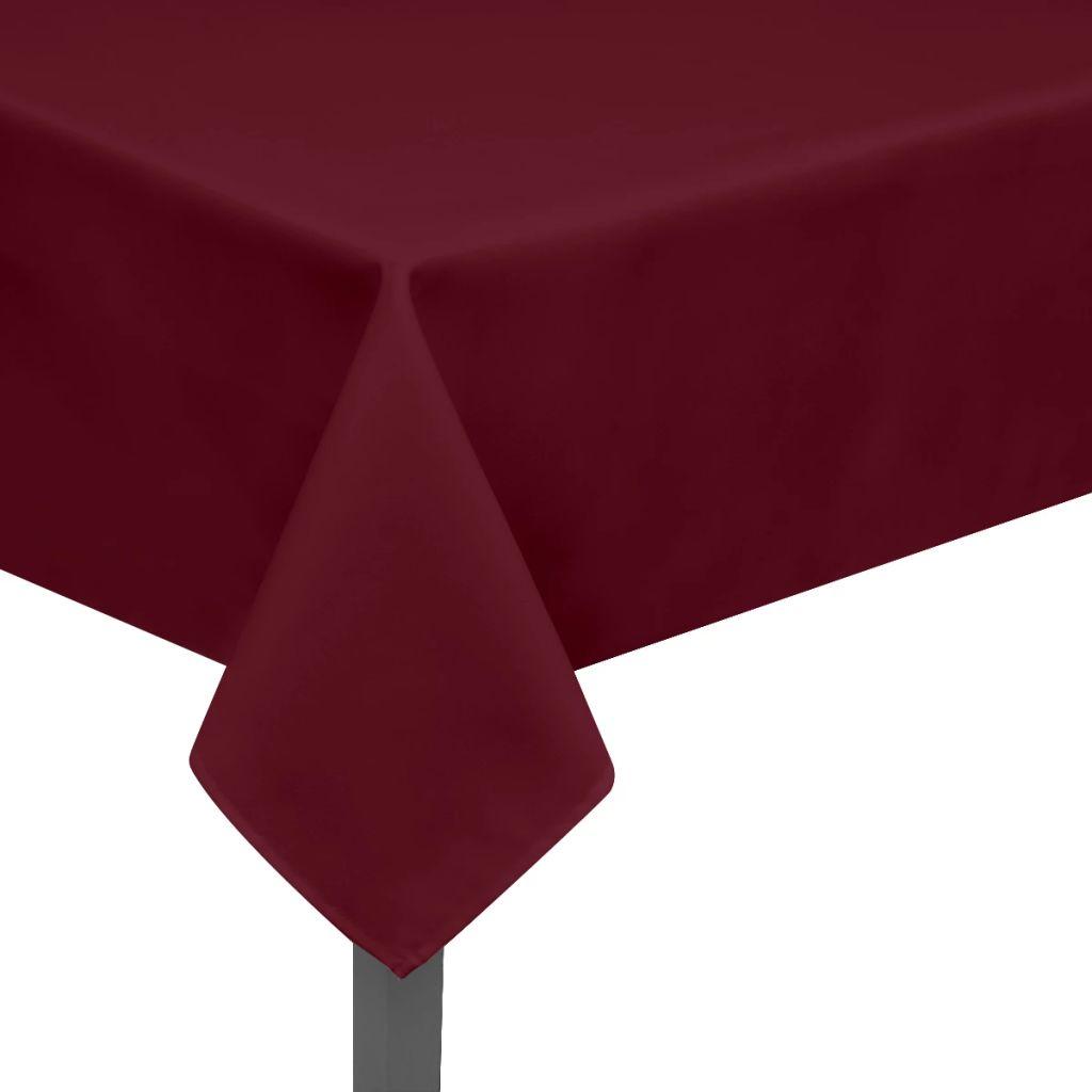 Fețe de masă, 190 x 130 cm, roșu burgund, 5 buc.