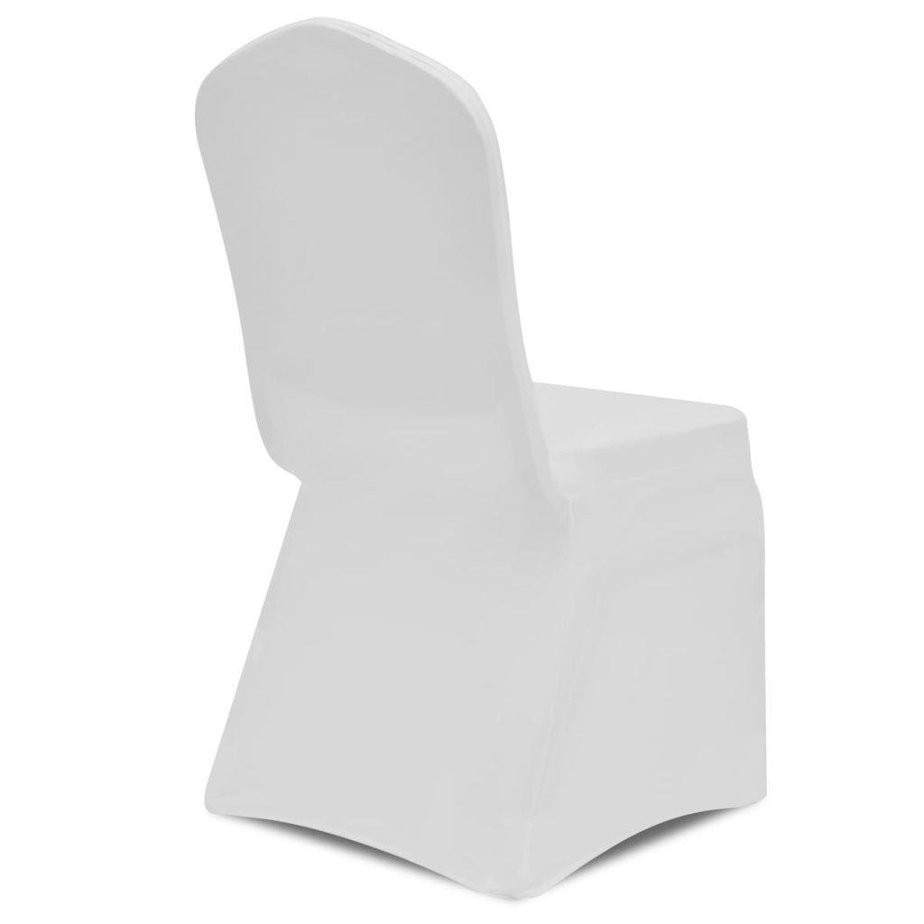 vidaXL Husă elastică pentru scaun, alb, 4 buc.