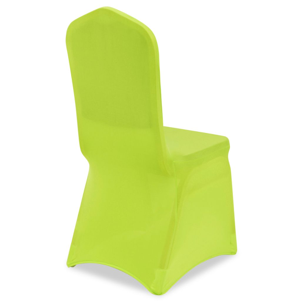 Husă elastică pentru scaun, verde, 6 buc.